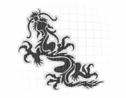Tribal Chinese Dragon Tattoos 01 Pictures