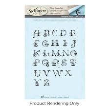 Amazoncom Spellbinders French Alphabet Ooh La Collection Stamp Set