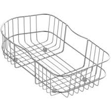 Kohler Executive Chef Sink Rack by Kohler Staccato Wire Rinse Basket K 3368 St The Home Depot