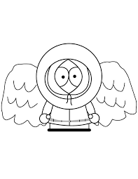 South Park Kenny With Angel Wings Coloring Page