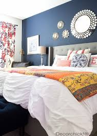 Navy And Orange Bedroom Refresh With New Bedding From Walmart Bhg