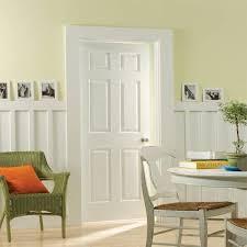 Home Interior Doors 30 In X 80 In Textured 6 Panel Hollow Primed Composite Interior Door Slab With Bore