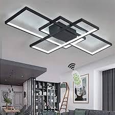 led deckenleuchte wohnzimmer len dimmbar deckenle modern eckig design decke leuchen aluminium lenschirm pendelleuchte wohnzimmerle