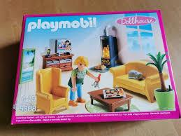 playmobil wohnzimmer mit kaminofen 5308 neu