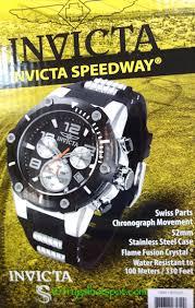 Invicta Speedway Stainless Steel Case Mens Watch Costco