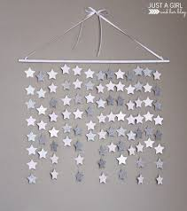 This Simple And Beautiful Falling Star Wall Hanging Would Be So Perfect In A Nursery Or