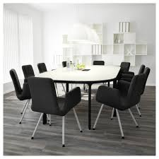 Ikea Dining Room Table by Bekant Conference Table Birch Veneer Black Ikea