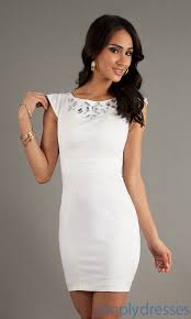 white dresses short dress ala