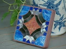 how to make glass mosaic inlay tile hgtv