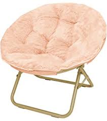 amazon com mainstays faux fur saucer chair multiple colors pink