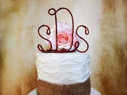 Personalized Rustic Monogram Cake Topper Shabby Chic Wedding With Your Initials