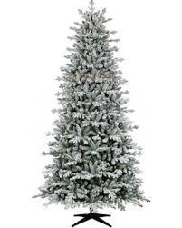 9ft Prelit Artificial Christmas Tree Flocked Balsam Fir Clear Lights