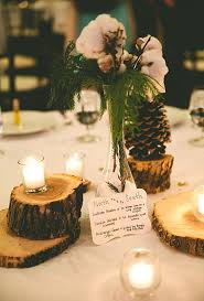 This Bride And Groom Chose Simple Understated Centerpieces Which Included Fresh Cedar Fluffy