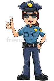 Female Police Officer Thumbs Up