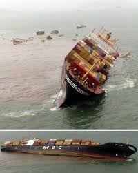 Thousands Of Shipping Containers Lost At Sea Each Year For Least Several Decades To Begin Marking As It Were The Paths Worlds Cargo Ships