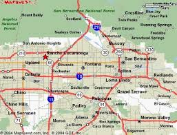 Map Of Southern California Cities And Towns San Bernardino City