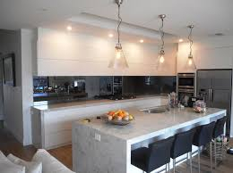 Melbournes Longest One Piece Toughened Charcoal Mirror Splashback Nearly Five Metres Long Brighton Manufactured Kitchen