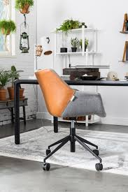 Acrylic Desk Chair On Casters by Zuiver Doulton Office Chair Is Available In Vintage Brown The