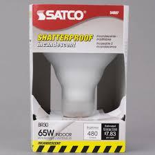 satco s4887 65 watt frosted shatterproof finish incandescent