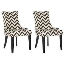 100 Designer High End Dining Chairs Safavieh Lester BlackWhiteEspresso 19 In H Chevron Chair