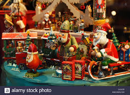 Vintage Look Christmas Toys And Decorations In A Store Window Display Bruges Belgium
