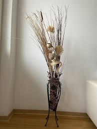 deko vase für den wohnzimmer herbst winter aus stahl