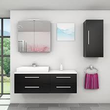 badmöbel set city 210 v2 esche schwarz badezimmermöbel waschtisch 140cm 16866 ohne spiegelschrankbeleuchtung