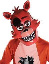 Scary Halloween Half Masks by Amazon Com Five Nights At Freddy U0027s Foxy Child U0027s Half Mask Toys