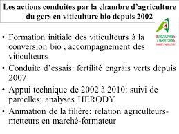 chambre agriculture gers la viticulture biologique gersoise ppt télécharger