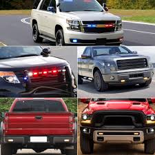 Car Emergency Light Bars 12 LED Waterproof Emergency Beacon Flash ...