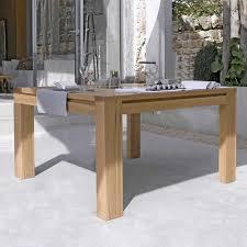 table de salle à manger en chêne massif conception g 4 pieds