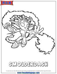 Skylanders Swap Force Fire Smolderdash Coloring Page