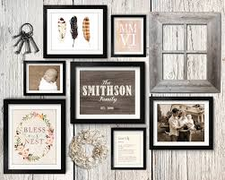 Asymmetrical Vintage Rustic Family Gallery Wall Idea With Paper Wreath Keys And Barn Wood