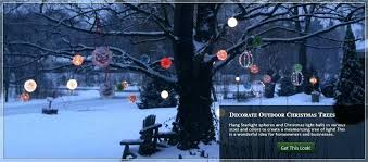Hanging Tree Lights Star Outside For Sale