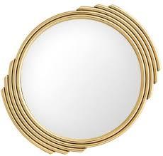 casa padrino designer edelstahl spiegel gold 100 cm luxus wohnzimmer wandspiegel