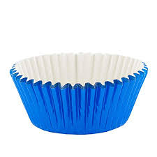 PME Metallic Blue Baking Cases For Cupcakes Standard Size Pack Of 30 Amazoncouk Kitchen Home