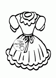 Dress Coloring Page For Girls Printable Doll Pages To Print Large Size