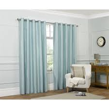 Faux Silk Eyelet Curtains by Faux Silk Eyelet Curtains Duck Egg 66 X 72in At Homebase Co Uk