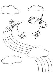 Rainbow Unicorn Coloring Pages