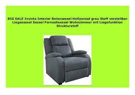 big sale invicta interior relaxsessel grau stoff
