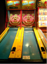 I Ran Across A Post About Making Skee Ball Game Out Of Pizza Box And Cardboard It Got Me Thinking This Terrifically Fun Arcade How