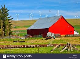 Red Barn In A Country Farm Eastern Washington PNW Stock Photo ... Red Barn Washington Landscape Pictures Pinterest Barns Original Boeing Airplane Company Building Museum The The Manufacturing Plant Exterior Of A Red Barn In Palouse Farmland Spring Uniontown Ewan Area Usa Stock Photo Royalty And White Fence State Seattle Flight Interior Hip Roof Rural Pasture Land White Fence On Olympic Pensinula