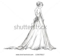 Beautiful Young Girl In A Wedding Dress EPS 10 Vector Illustration