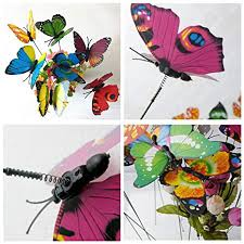 mural butterfly wing 3er set metal holding cushion