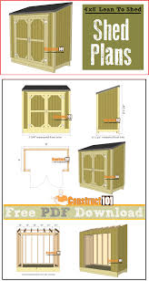 Free 10x12 Gable Shed Plans by Lean To Shed Plans 4 U0027x8 U0027 Pdf Download Construct101