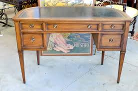 Sligh Lowry Desk Leather Top by Neoclassical Demi Lune Desk By Sligh Lowry At 1stdibs