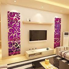 jwqt acryl wall sticker 3d stereo spiegel wohnzimmer tv wand