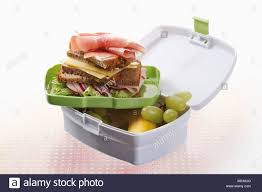 Open Lunchbox With Food Close Up