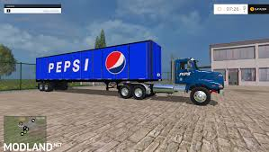 Western Star 4900 With Great Dayne Trailers Pepsi Edition Blue Mod ... Coca Cola Pepsi 7up Drpepper Plant Photosoda Bottle Vending Pepsi And Anheerbusch Make The Largest Tesla Truck 2019 Preorders Diet Wrap Thats A Pinterest Pepsi Marcolordzilla On Twitter I Saw Both Coca Cola Trucks The Menards 1 48 Diecast Beverage Ebay Thread Onlogisticsmatters Astratas Gps For Tracking Delivery Stock Photos Buddy L Trucks Collectors Weekly Delivery Truck Love Is Rallying After Places An Order 100 Semis Tsla