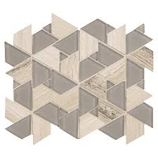 American Olean Mosaic Tile Canada by American Olean Loren Place 11 In X 11 In Pyramid Gray Glass And
